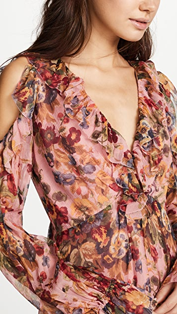 Zimmermann Lovelorn Frill Playsuit Cover Up