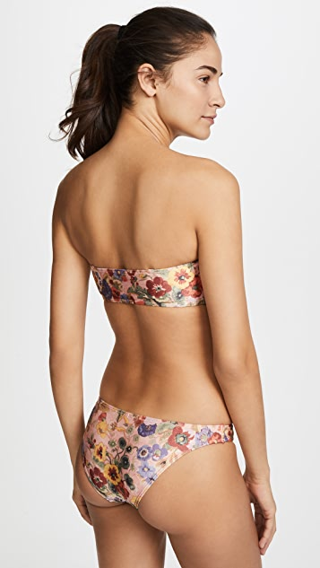 Zimmermann Lovelorn Bandeau Bikini