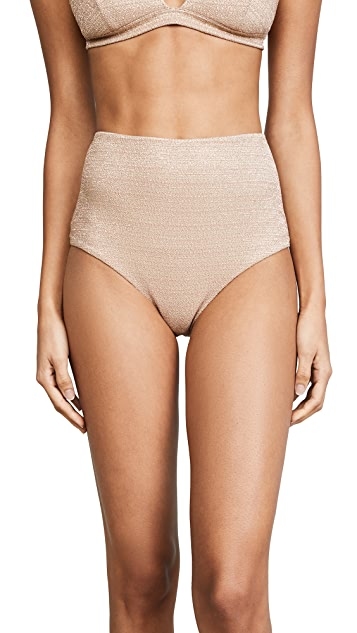 Zimmermann Separates Metallic High Waisted Bottoms