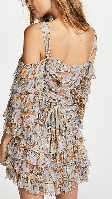 Zimmermann Painted Heart Ra Ra Mini Dress
