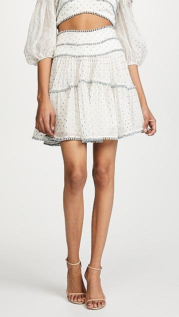 Zimmermann Painted Heart Contour Skirt