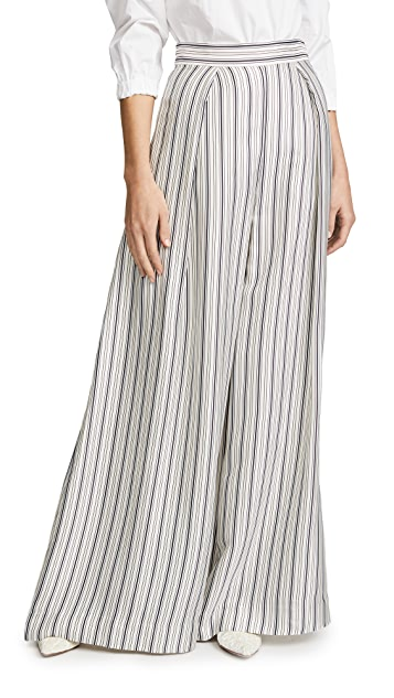 Zimmermann Painted Heart Palazzo Pants