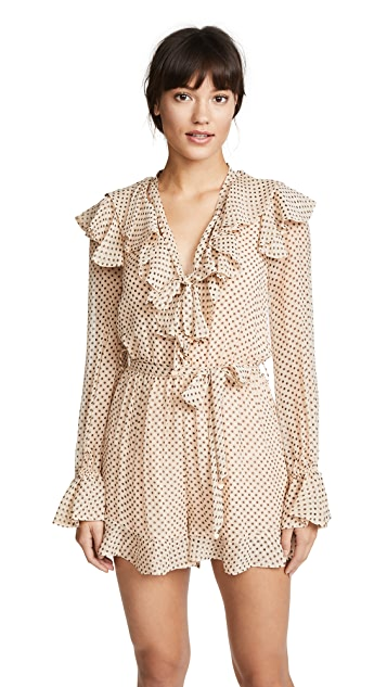 Zimmermann Painted Heart Cascade Playsuit