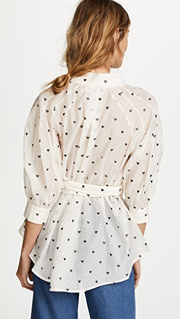 Zimmermann Painted Heart Tie Shirt