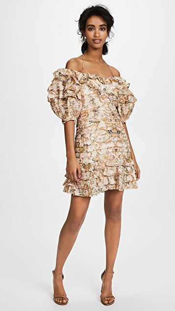Zimmermann Painted Hearts Folds Dress