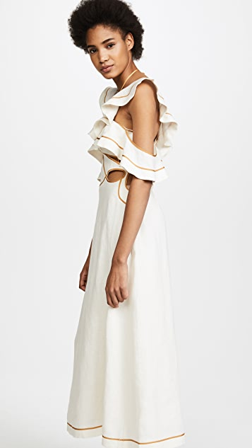 Zimmermann Painted Heart Flutter Dress