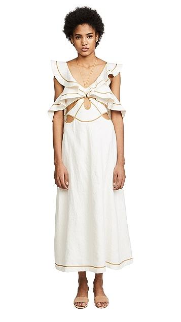 Zimmermann Painted Heart Flutter Dress
