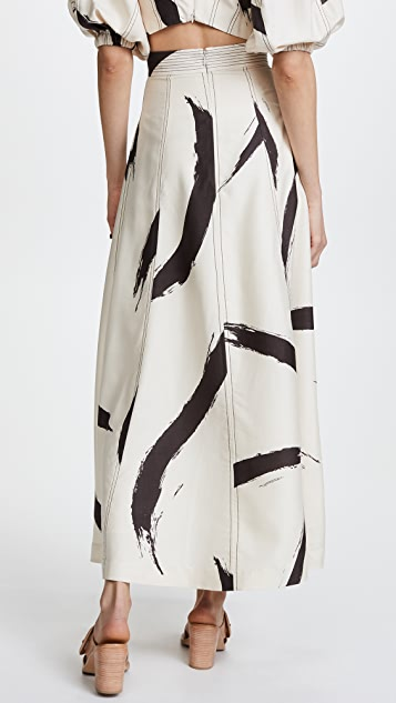 Zimmermann Painted Heart A-Line Skirt