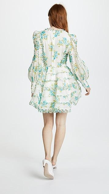 Zimmermann White Wave Honeymooners Mini Dress
