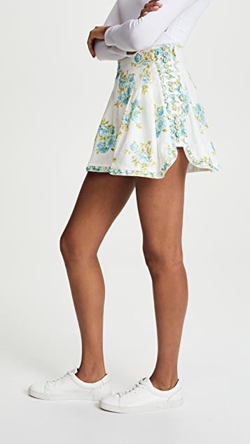 Zimmermann White Wave Honeymooners Shorts