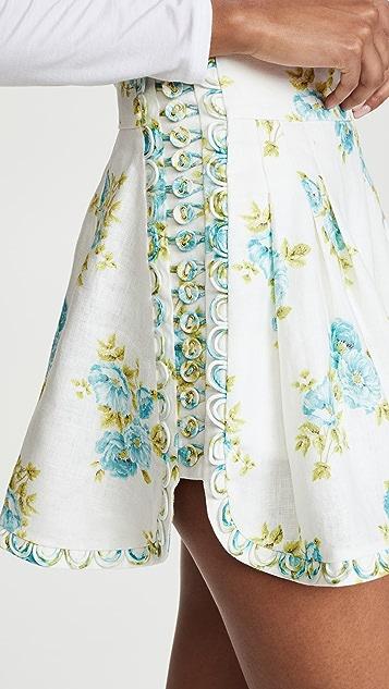 Zimmermann White Wave Honeymooners Shorts