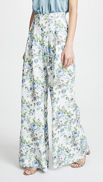 Zimmermann White Wave Pants