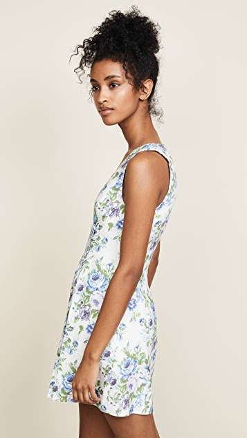 Zimmermann White Wave Lace Up Dress