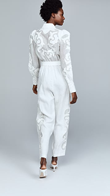 Zimmermann Radiate Applique Jumpsuit