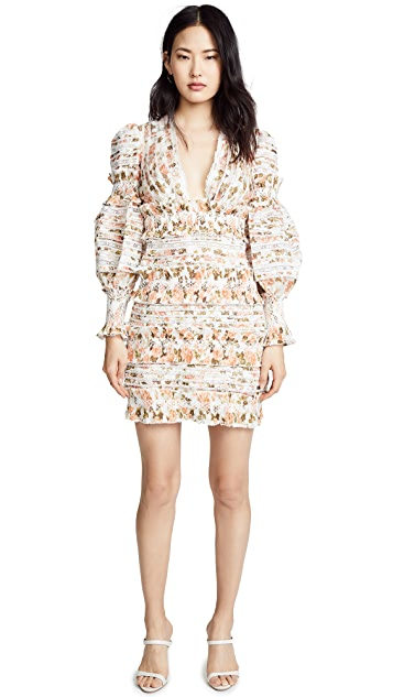 Zimmermann Radiate Smocked Mini Dress