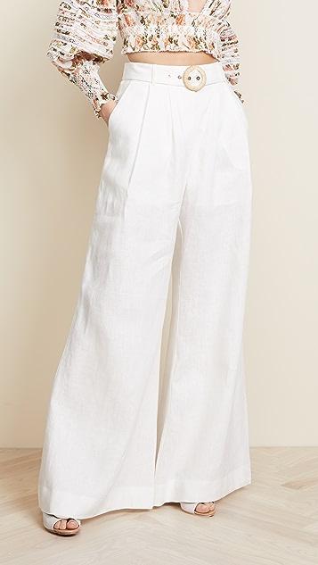 Zimmermann Radiate Slouch Pants - White