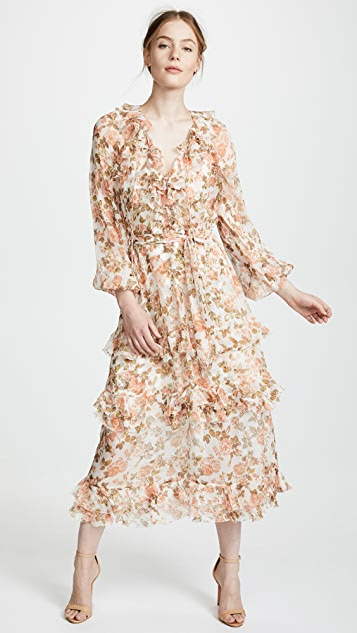 Radiate Frill Dress by Zimmermann