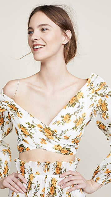Zimmermann Golden Surfer Bodice Blouse