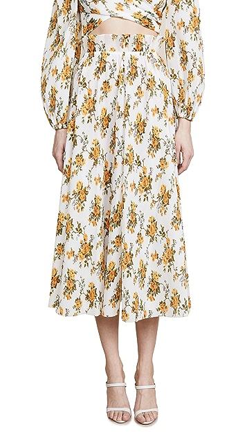 Zimmermann Golden Plisse Skirt