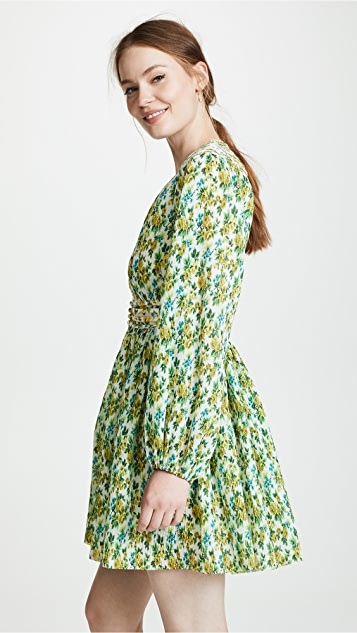 Zimmermann Golden Plisse Mini Dress