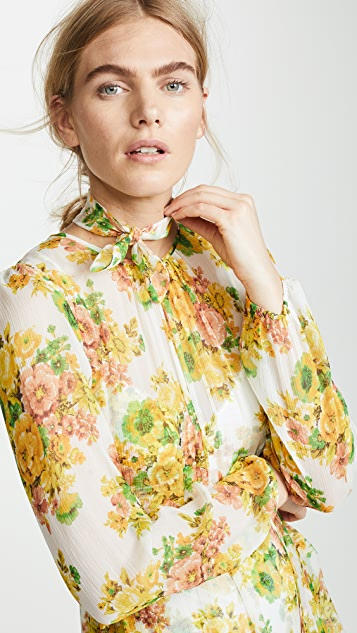 Zimmermann Golden Tiered Dress
