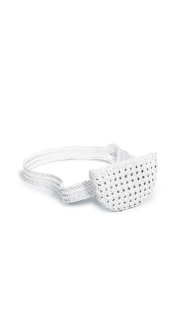Zimmermann Woven Leather Belt Bag