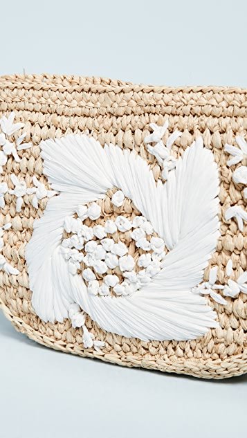Zimmermann Embroidered Raffia Belt Bag