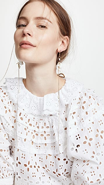 Zimmermann Chain and Shell Drop Earrings