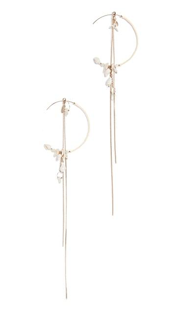Zimmermann Chain and Shell Hoop Earrings