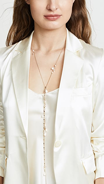 Zimmermann Chain and Shell Long Drop Necklace