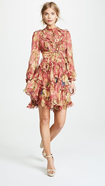 Zimmermann Melody Lace Up Dress