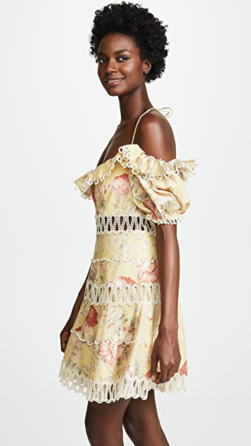 Zimmermann Melody Off Shoulder Dress