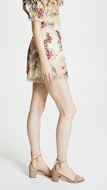 Zimmermann Melody High Waist Shorts