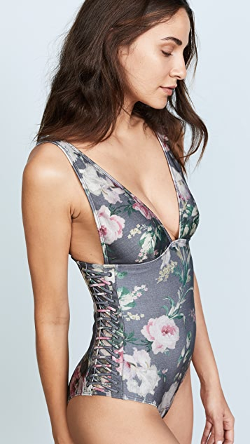 Zimmermann Iris Lace Up One Piece