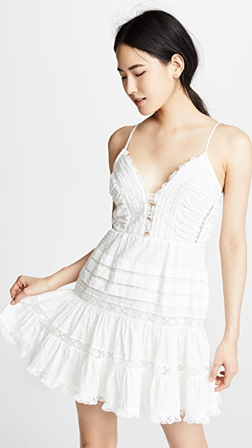 Zimmermann Iris Lace Trim Short Dress