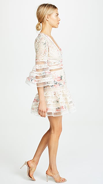 Zimmermann Laelia Diamond Flutter Dress