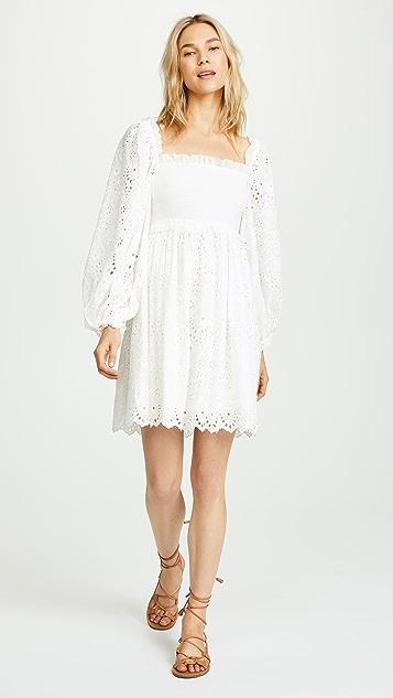Zimmermann Castile Shirred Flare Dress