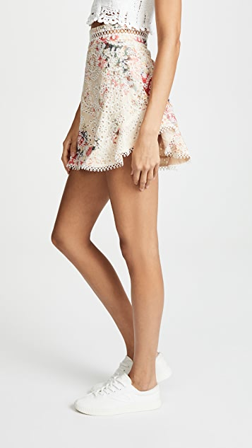 Zimmermann Laelia Diamond Frill Shorts