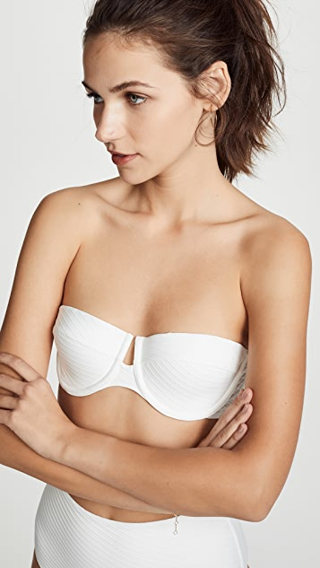 Zimmermann Separates Textured Underwire Bikini Top
