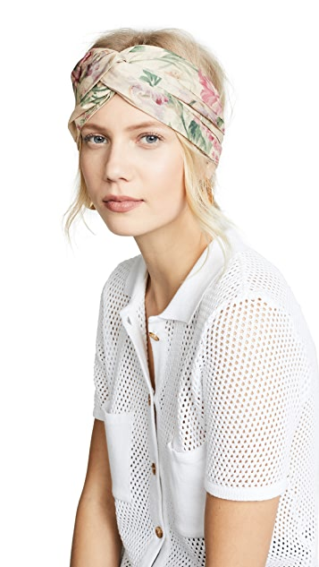 Zimmermann Printed Turban Head Scarf
