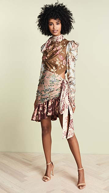 Zimmermann Tempest Tucked Contour Mini Dress