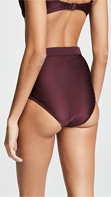 Zimmermann Juniper High Waisted Bikini Bottoms