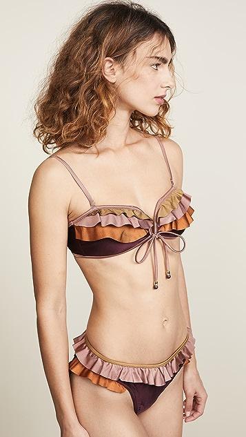 Zimmermann Juniper V Bandeau Bikini Top