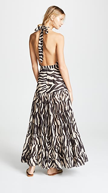 Zimmermann Juniper Halter Tie Dress