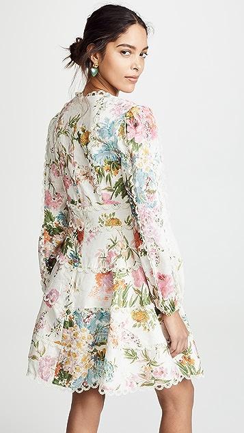 Zimmermann Короткое платье Heathers с оборками