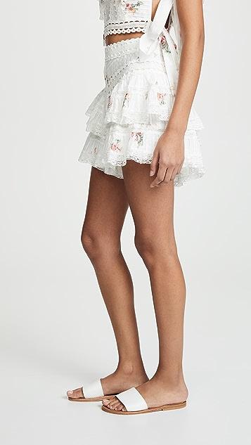 Zimmermann Heathers Pintuck Frill Shorts