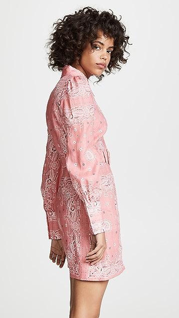 Zimmermann Платье-рубашка Heathers в стиле банданы