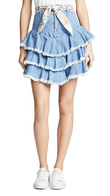 Zimmermann Bowie Ruffle Skirt