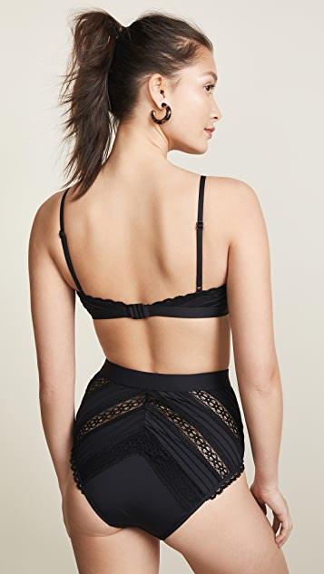 Zimmermann Heathers Pintuck Lace Bra