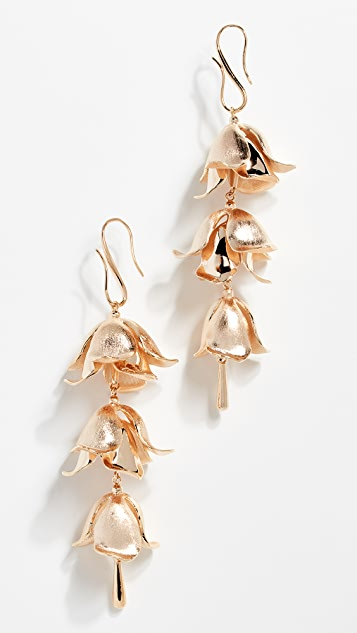 Zimmermann Orchid Bud Drop Earrings